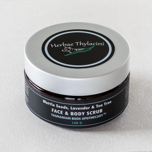 Wattle seeds, Lavender & Tea Tree Face & Body Scrub
